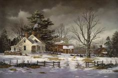 Fred Swan Artwork - Vermont Gift Barn and Gallery Swan Painting, Winter Painting, Winter Art, Winter Time, Snow Scenes, Winter Scenes, Christmas Scenes, Christmas Art, Farm Art