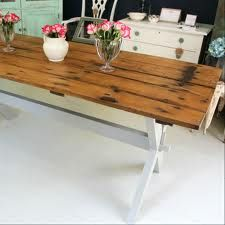 upcycled furniture - table from a door