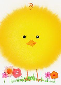 Margaret Berg Art: Fluffly Easter Chick Close-Up. ADORABLE !!!