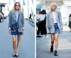 Chic Ways to Wear a Denim Skirt Like It's 2018 (Not 2008) #lookboook #streetstyle #womensfashion #denim