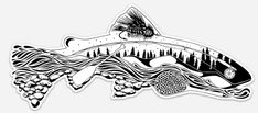 The Remedy - Elements of Fly Fishing Decal – Remedy Provisions - Art & Design by Nate Karnes Fly Fishing Tips, Best Fishing, Trout Fishing, Fishing Boats, Fishing Rod, Fishing Basics, Fishing Tackle, Fishing Videos, Carp Fishing