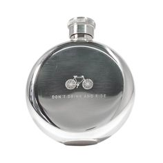 Don't Drink and Ride Flask in Stainless Steel By Izola - 3 Oz Gifts For Him, Great Gifts, 30 Gifts, Cup Of Jo, Handmade Gifts For Men, Bar Tools, Shot Glasses, Life Savers, Bars For Home