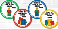 12 Printed LEGO Favor Tags  Entire Birthday by SparetimePrints, $5.99
