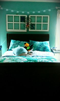 The reNOUNed Nest: Ocean Minded Bedroom: Recycled Windows, Art & Light