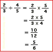How to divide fractions (4/5 divided by 2/3 resulting in 1 1/5 ...