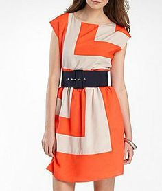 alyx colorblock belted dress jcp