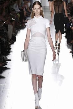 @Victoria_Beckham #catwalk #New_York #MBFWNY #SS_2013 #white #trends #in