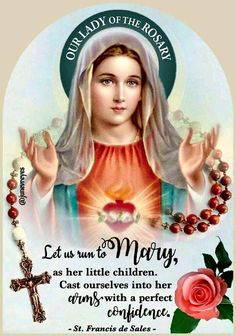 """🙏🌹Our Lady of the Rosary 🌹🙏 🌹🌹🌹🌹🌹🌹🌹🌹🌹🌹"" Holy Rosary, Rosary Catholic, Catholic Prayers, Catholic Saints, Our Lady Of Rosary, Jesus Mother, Blessed Mother Mary, Blessed Virgin Mary, Rosary Quotes"