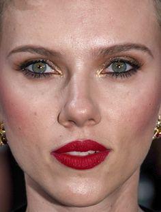 scarlett johansson scarlett johansson red carpet makeup celeb celebrity celebritycloseup