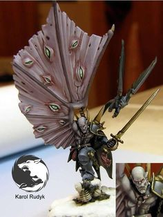 The Internet's largest gallery of painted miniatures, with a large repository of how-to articles on miniature painting Figurine Warhammer, Warhammer Art, Warhammer Fantasy, Fantasy Battle, Medieval Fantasy, Warhammer Vampire Counts, Fairy Drawings, Fantasy Figures, Dnd Monsters