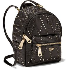 Victoria's Secret Glam Rock Mini City Backpack ($58) ❤ liked on Polyvore featuring bags, backpacks, day pack backpack, pocket backpack, rock bag, rucksack bags and zipper bag