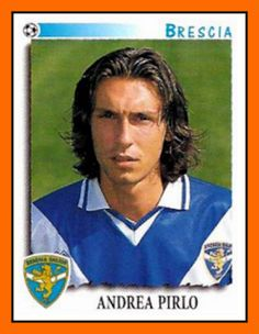 Panini sticker: A young Andrea Pirlo with Brescia 1999 Best Football Players, Good Soccer Players, World Football, School Football, Football Kits, Football Soccer, Football Trading Cards, Football Cards, Andrea Pirlo