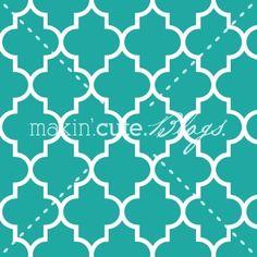 Quatrefoil Turquoise Seamless Pattern by makincuteblogs.com/shop - $1.99