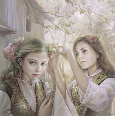 Slavic folklore paintings. Maria Alieva art