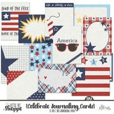 FREE 4th of July Journaling Cards (for a limited time) By: Little Bit Shoppe