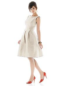 Alfred Sung Style D440    #white/ivory #bridesmaid #dress