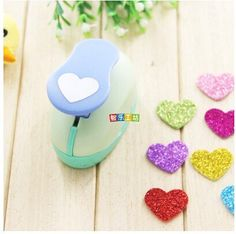 Since 225cm Heart shape EVA foam punch paper punch for greeting card handmade Scrapbook Handmade puncher Random Color and Design >>> Click image for more details.Note:It is affiliate link to Amazon. #ScrapBooking