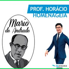 """#ProfHoraciohomenageia o """"Pai do Modernismo"""", Mario de Andrade!!!    O paulistano Mário Raul de Moraes Andrade, nasceu em 09 de outubro de 1893. Foi um notável poeta, escritor, crítico literário, musicólogo, folclorista, ensaísta brasileiro e um dos pioneiros da poesia moderna brasileira com a publicação de seu livro """"Paulicéia Desvairada"""" em 1922.   Confira uma vitrine especial deste! http://s55.me/QQTRNvE"""