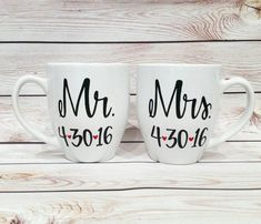 Mr. and Mrs. // His and Hers // Couples Coffee by MakeLoveLive