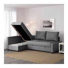 IKEA - FRIHETEN, Kulmavuodesohva,  , Bomstad musta, , Divaanin voi sijoittaa sohvan oikealle tai vasemmalle puolelle. Tarvittaessa puolta voi vaihtaa.Divaaniosan alla säilytystilaa. Tavarat on helppo ottaa turvallisesti ulos, sillä istuin pysyy itsestään auki.Helppo sijata vuoteeksi.Kiinteä keinonahkaverhoilu näyttää ja tuntuu aivan aidolta nahalta.Sohva, divaani ja parivuode samassa.