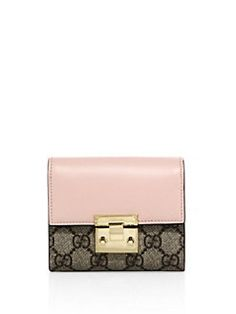 Gucci - Padlock GG Supreme Leather French Flap Wallet