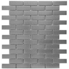Somertile 12.25x10.5-in Anvil Steel Subway .75x2.5-in Metal Over Ceramic Mosaic Tile (Pack of 10) | Overstock.com