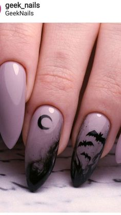 Coffin Halloween Nails that are Truly Spooktacular - Shitnails -. Coffin Halloween Nails that are Truly Spooktacular - Shitnails - Halloween Nail Designs, Halloween Nail Art, Purple Halloween, Halloween Halloween, Cute Acrylic Nails, Fun Nails, Rock Nails, Holloween Nails, Nagel Stamping