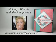 (279) Stamping a Wreath with Stramparatus - YouTube