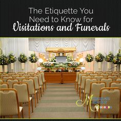The etiquette of visitations and funerals will help you navigate through the process if you've lost a loved one, and show you how to help if someone close to you has lost a family member and need to lean on your strength for support through this sad time. http://www.mannersmentor.com/