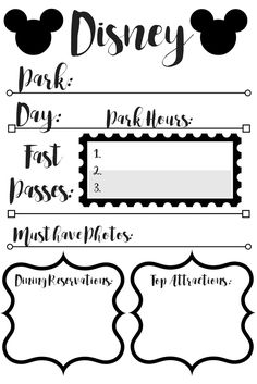 Free Printable for Disney Planning - Simply Happy Mama. Disney 2016. Disney World planning.