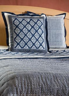 Jaya Collection - Organic Cotton Block Print Quilts & Shams - Bedding & Bath