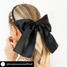Do you love an oversized bow to update a plain pony tail?😍🎀 Click the heart 💓  Follow for updates on the release date of BESPOKE PERSONALISED BOWS! Black Hair Bows, Ponytail, Bespoke, Heart, Fashion, Taylormade, Moda, Fashion Styles, Pony Tails