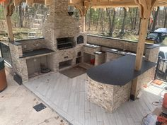 The BBQ season is coming. Ask ours sales consultants how make your outside kitchen be wonderful! Steel Grey Granite, leather finished. make appointment by: onyxgranite.com #steelgreygranite #granite #leatherfinish #outsidekitchen #onyxmarbleandgranite