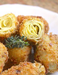 Crispy Fried Artichoke Hearts ♥ Alimentari