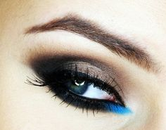 smokey eye with a touch of blue – Makeup Geek