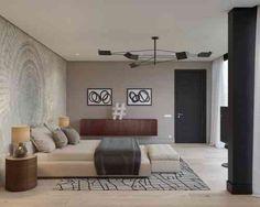 chambre à coucher et déco de luxe contemporaine
