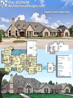 Architectural Designs House Plan It gives you 4 beds, baths and over square feet of heated living space. Where do YOU want to build? New House Plans, Dream House Plans, House Floor Plans, 4000 Sq Ft House Plans, Luxury House Plans, The Plan, How To Plan, Parking Plan, Porte Design