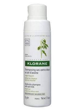 A tester  Not all dry shampoos are created equally! Klorane's formula doesn't leave a chalky residue. Plus, its non-aerosol spray top makes it eco-friendly....
