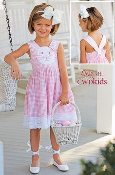 From CWDkids: Bunny Seersucker Dress