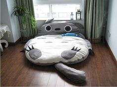 310*180cm (122x70inch) Huge Cute Cartoon Totoro Double bed Sleeping Bag Pad Sofa $279!!! GIMMEIT!!!