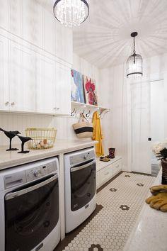 Elegant, Light and Bright Laundry Room/Mudroom in Modern Farmhouse in Auburn, CA. Room, Mudroom, Storage Room, Interior, Basement Laundry Room, Home Decor, White Cabinetry, Laundry Room Cabinets, Room Storage Diy