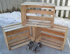 Wood Crates Become Creation Station - It was so great to be able to get outside last weekend and work on a project! The weather was warm enough to get a small p…