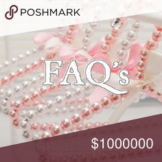 1. Organize Your Closet 2. Share 3. Move SOLD Item *This is my insight on questions that I get asked frequently.  I hope this helps Poshers!  You can never know enough!  I'm still learning, and always keep an open mind!  Happy Poshing!😃🌼🌼🌼     Photo credit: https://www.aliexpress.com/cheap/cheap-beaded-hangers/2.html?spm=2114.40010708.2.15.MfGfWi Other
