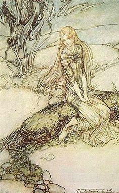 Little Mermaid by Hans Christen Andersen illustrated by Arthur Rackham