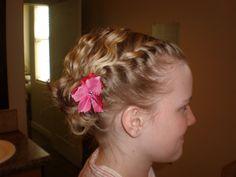 flower girl hair...?