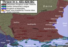 Odrysian kingdom under Sitalces - The Odrysian Kingdom was a state union of Thracian tribes that existed between the 5th and 3rd centuries BC. It consisted mainly of present-day Bulgaria, spreading to parts of Northern Dobruja, parts of Northern Greece and parts of modern-day European Turkey. King Seuthes III later moved the capital to Seuthopolis.