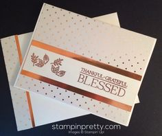 Paisleys & Posies fall thank you card.  Mary Fish Stampin' Up! Demonstrator.  1000+ card ideas & daily paper crafting tips at http://stampinpretty.com