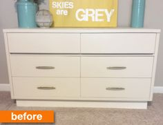 Before & After: A Vintage Dresser Goes From White to Wow!