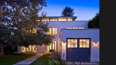 Rustic Canyon Residence by Studio William Hefner, discreet upper glassed study/patio