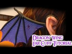 Tutorial: Dragon Wing Ear Cuff (2 different styles) Polymer Clay